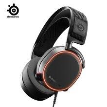 سماعة الألعاب من SteelSeries Arctis Pro عالية الدقة برامج تشغيل سماعات عالية الدقة سماعات الرأس DTS: X v2.0 محيطة للكمبيوتر ، أسود