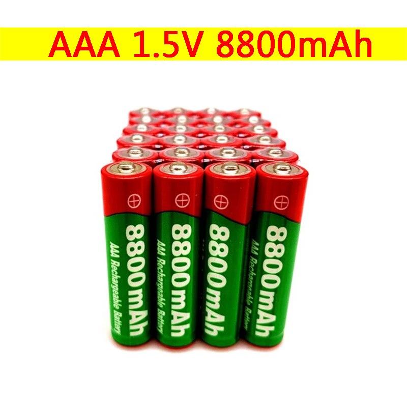 New1.5V AAA перезаряжаемый аккумулятор 8800 мАч AAA 1,5 V Новый щелочные батареи перезаряжаемый аккумулятор для led светильник игрушка MP3 долгий срок с...