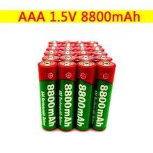 New1.5v aaa bateria recarregável 8800mah aaa 1.5v nova bateria recarregável alcalina para led luz brinquedo mp3 longa vida