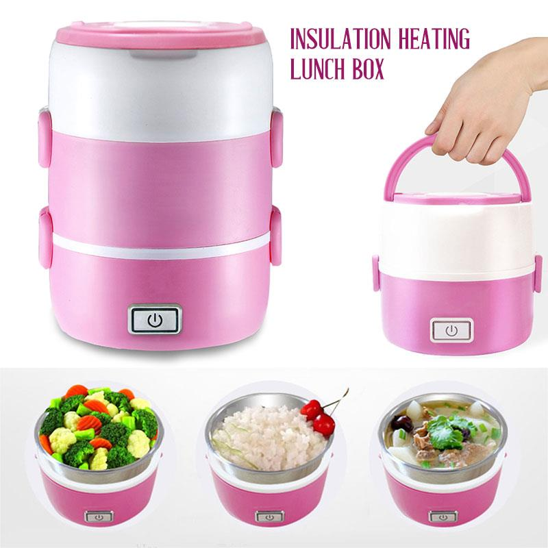 Mini Electric Cooker Office Heating Lunch Box 2-3 Layers Portable Mini Rice Cooke MultiCookers In HouseGift