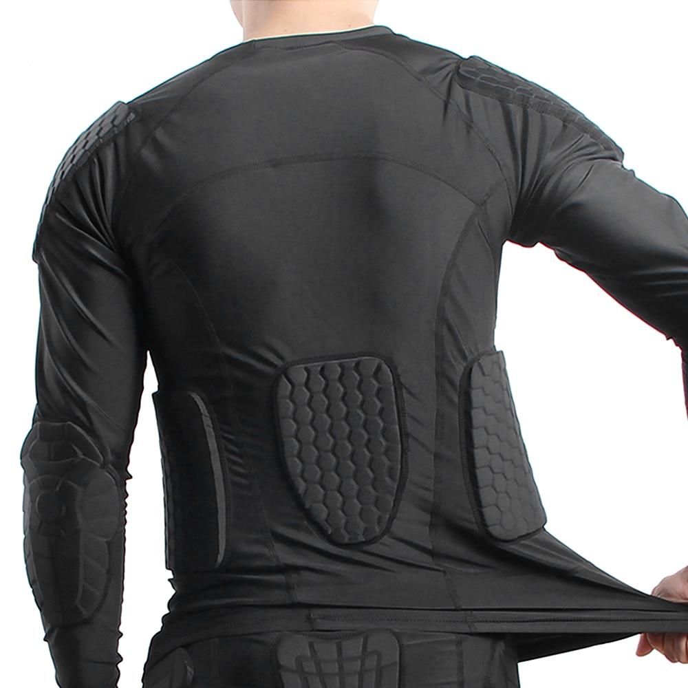Eva men acolchoado camisa de compressão almofada múltipla engrenagem protetora para o futebol beisebol futebol basquete vôlei treinamento bicicleta