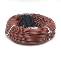 Cable eléctrico de calefacción de fibra de carbono, 100m, 12K, 33ohm/m, 220V, calentador para el hogar