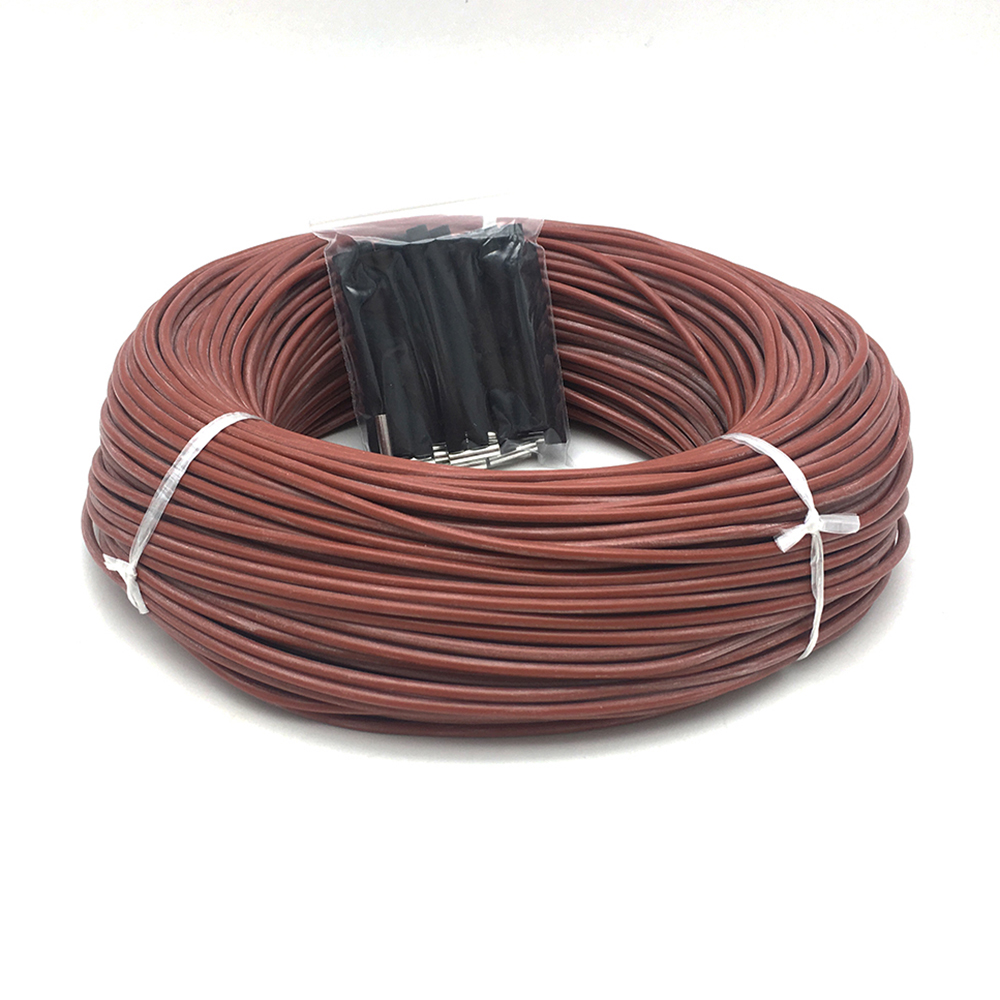 Electric 12K 33ohm/m Carbon Fiber Heating Cable 220V Infrared Warm Floor Wire Home Heater