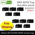 UHF RFID Метка omni-ID Fit400 915 м 868 МГц Alien Higgs3 EPC 100 шт. Бесплатная доставка прочная краска смарт-карта Пассивная RFID Метка