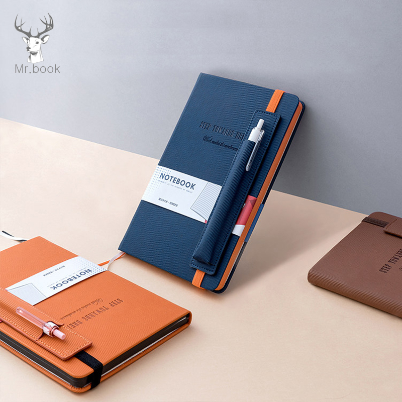 PU Leather Office Planner Business Notebook School Stationery Supplies 2020 Agenda Planner Organizer Pen Insert Bag Notebook