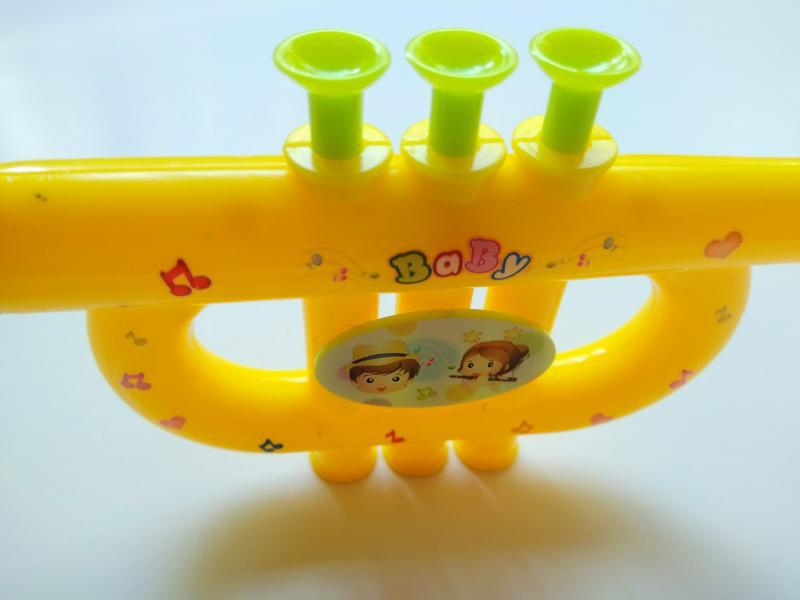 Katrina Mini Trumpet Musical Instrument Toy Infant Small Gift 0-3-6-12-Year-Old Children Baby Small Playing