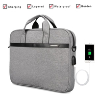 Kingsons Laptop Bag 14 15 inch Notebook Bag Laptop Messenger Computer Shoulder Bag Briefcase Case Cover for Macbook HP DELL