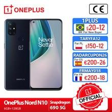 Oneplus nord n10 5g oneplus loja oficial mundial premiere versão global 6gb 128gb snapdragon 690 smartphone 90hz exibição 64mp; code: 1PLUS($20-12:For Brazail new buyer), SD9912BR($99-12)