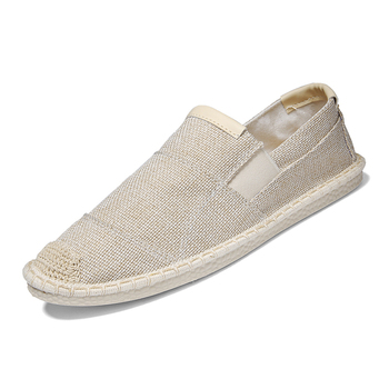 Men flats Espadrilles spring summer boats shoes hemp canvas lace-up sneakers breathable fashion casual driving shoes цена 2017