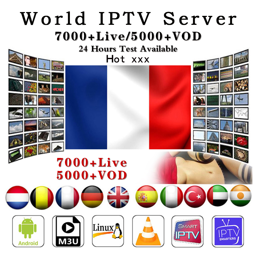 7000+ IPTV German French Turkish UK Poland Romania Hungary Czech Spain  HD IPTV Support Android M3U Smart TV Series VOD