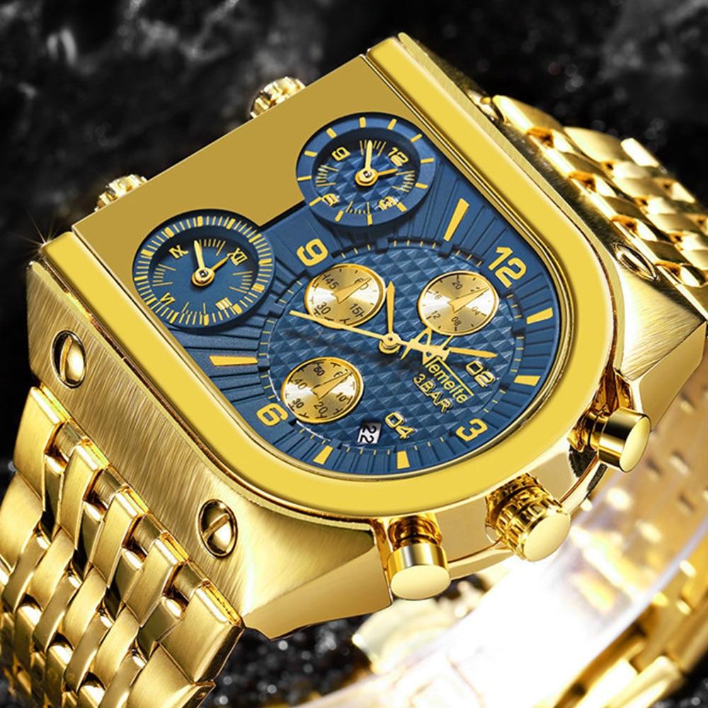 Men's Business Creativity Multi-time-zone Dial Steel Belt Quartz Watch Men's Watches