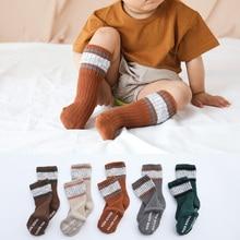 цена на New baby non-slip socks children cotton socks double needle baby socks baby winter socks non-slip thick floor socks