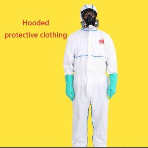 Image 2 - Защитный костюм комбинезон с крышкой полная защита тела, SMS нетканое страхование труда безопасность