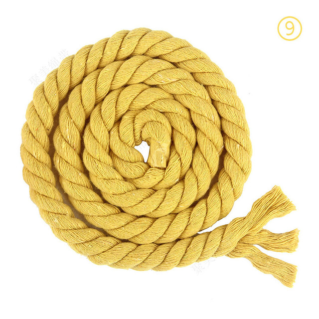 Colour /'Yellow/' Cotton Cord with Organza Ribbon