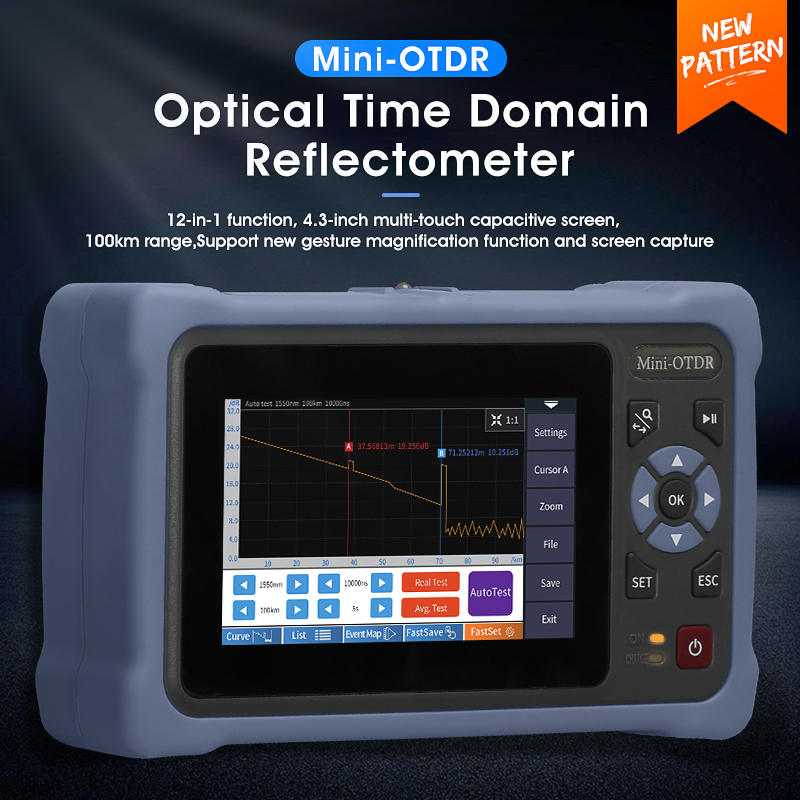 MINI OTDR Ethernet-Cable-Tester Reflectometer Fiber-Optic 1310/1550nm VFL Map OPM Touch-Screen
