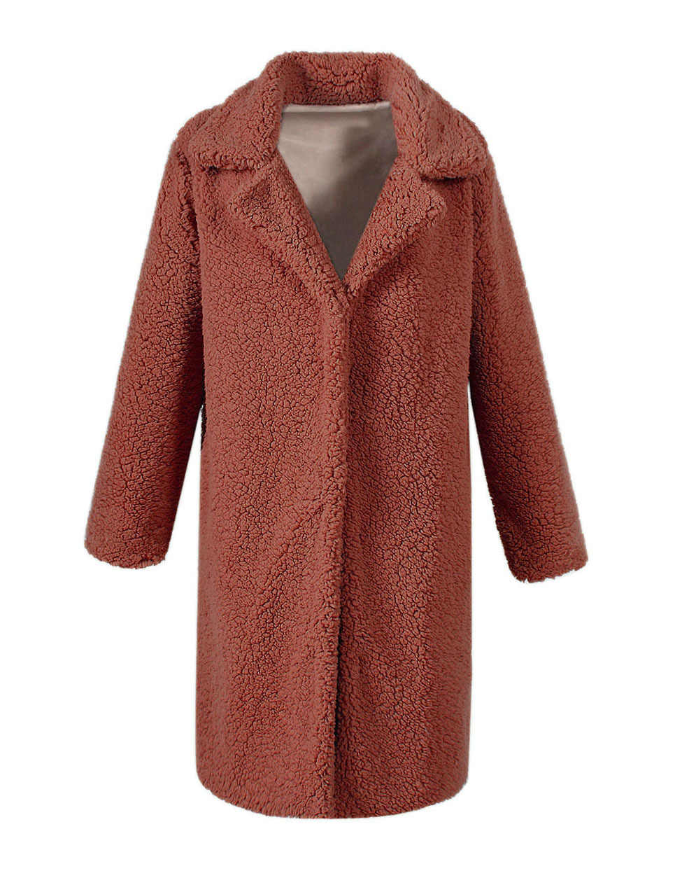 SWYIVY ขนสัตว์ Faux เสื้อโค้ทยาว 2019 ฤดูหนาวขนปุยยาวเสื้อขนสัตว์แฟชั่นหนา Outwear เปิด Stitch Plus ขนาด Xxxl