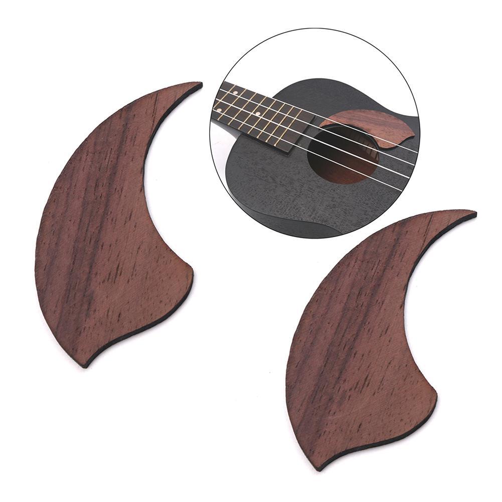 2Pcs Ukulele Pickguard Teardrop Rosewood Shield Wooden Guards Musical Instrument Accessories For Guitar