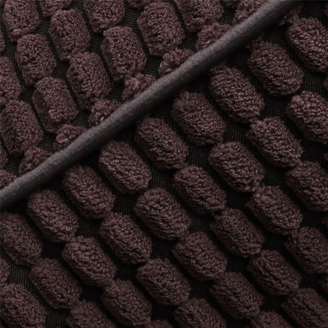 Black Waffle Cord Cushion Cover 5