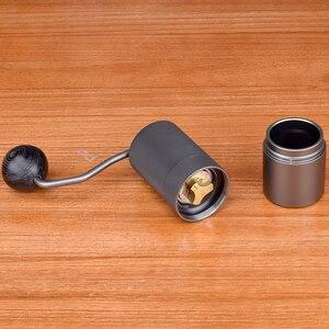 Image 4 - 50 مللي متر طاحونة القهوة الألومنيوم دليل طاحونة القهوة الفولاذ المقاوم للصدأ لدغ طاحونة مخروطي القهوة الفول ميلر