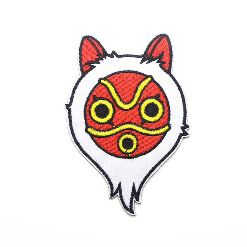 Princess Mononoke Applique Patches DIY Iron On Shoe Jeans Bag Shirt Clothes Jersey Accessory Stickers Embroideried Badges E0582 in Patches from Home Garden