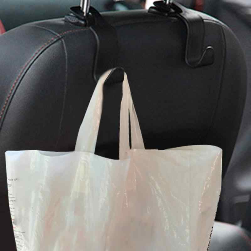 Car Seat Back Hooks Hanger Organizer Storage Headrest Bag Coat Luggage Carrier Universal Accessory Shopping Bag Car Accessories