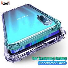 Jasne odporna na wstrząsy etui do Samsung Galaxy S21 S20 fe Plus uwaga 20 bardzo A21S A12 A31 A52 A72 A51 A71 A70 A50 S8 S9 S10 Plus obudowy kuferek kejsy obudowa na telefon pokrowiec okładka funda movil tanie tanio keai CN (pochodzenie) Częściowo przysłonięte etui Transparent Shockproof Case For Samsung Galaxy S20 Plus Zwykły przezroczyste