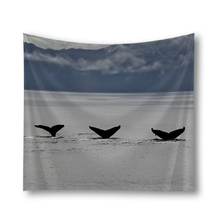 Ocean Dolphin Wall Hanging Tapestry Sea Scenery Art 3D Printing Cloth Tapestries Beach Throw Travel Mattress Room Decor