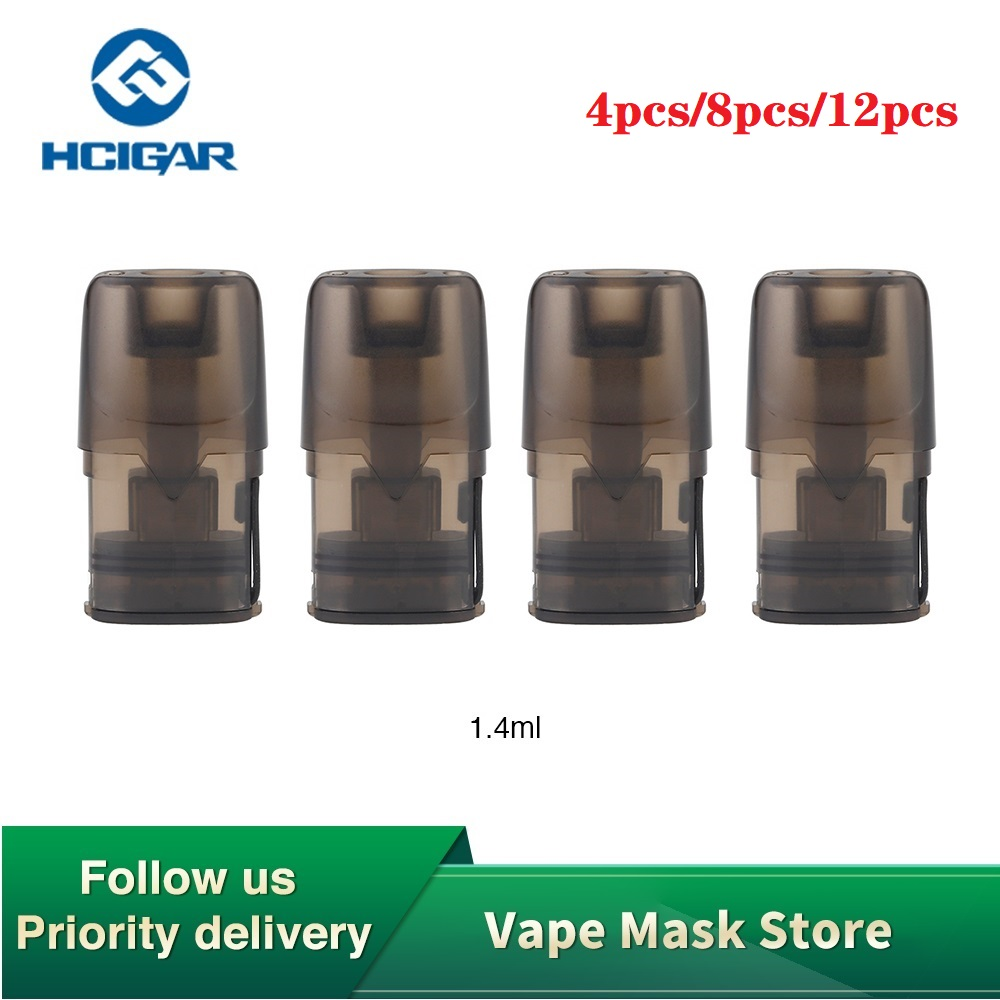 100% Original Hcigar Akso OS Pod Cartridge 1.4ml 4pcs/pack With 1.8ohm Coil Resistance For Hcigar Akso OS Pod Starter Kit Vape