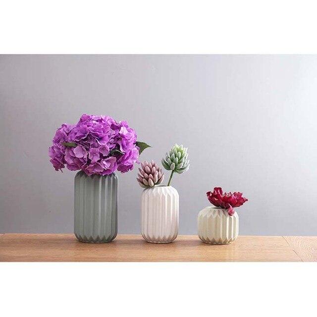 Modern Ceramic Vase Minimalist Creative Tabletop Vase Home Decoration Vase Fashion Modern European Style Geometric Flower Vase 5