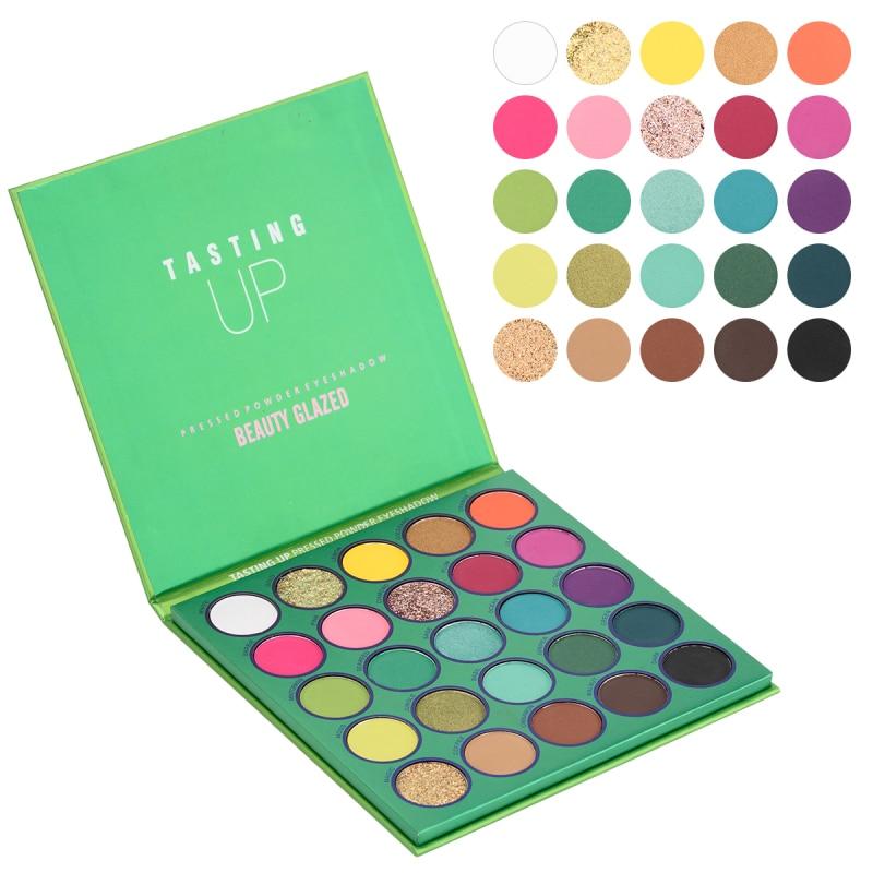 25 Color Beauty Glazed Eyeshadow Palette Matte Highlight Eyeshadow Palette Matte Pearlescent Eye Makeup Palette Korean