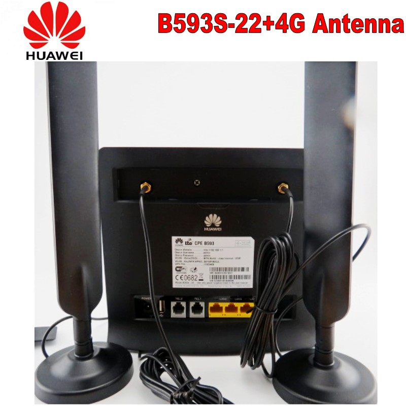 Original Unlocked Huawei B593 B593S-22 100Mbps 4G LTE FDD TDD CPE Wifi Wireless Router Mobile Broadband With Sim Card Slot