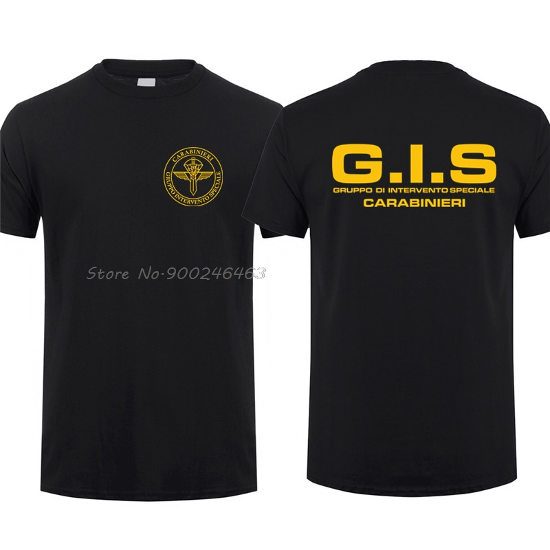 Новая полицейская GIS Gruppo di Intervento Speciale Swat итальянская футболка спецназа мужские хлопковые футболки Топы Harajuku уличная одежда
