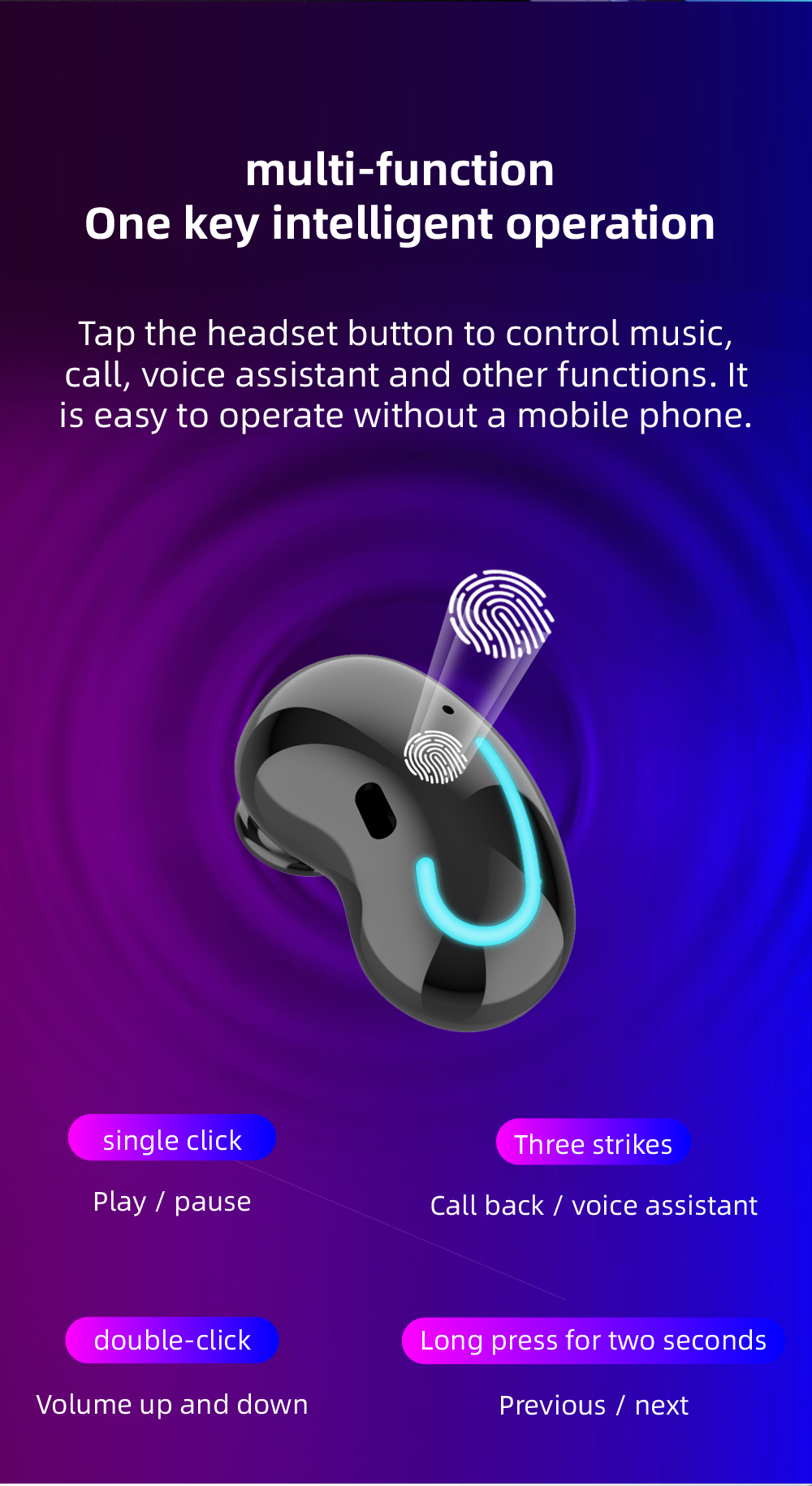 Fones de ouvido sem fio bluetooth fone