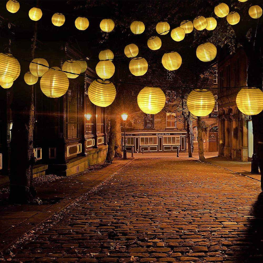 10/20/30 LED Solar Hanging Lantern String Light Garden Backyard Balcony Solar lights For Christmas Holiday New Year Decoration