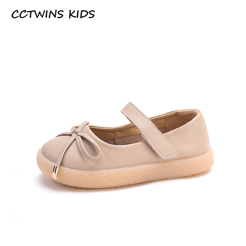 CCTWINS Kids Shoes 2020 Spring Baby Girls Fashion Mary Jane Children Genuine Leather Flat Toddler Brand Party Shoes GM2654