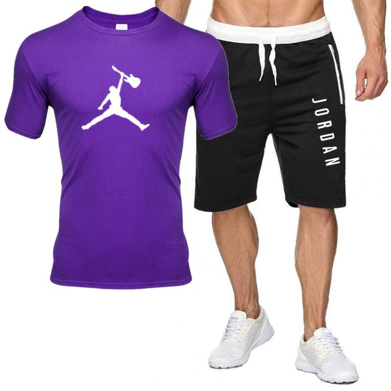 2piece set men outfits jordan 23 t-shirt shorts summer short set tracksuit men sport suit jogging sweatsuit basketball jersey 4