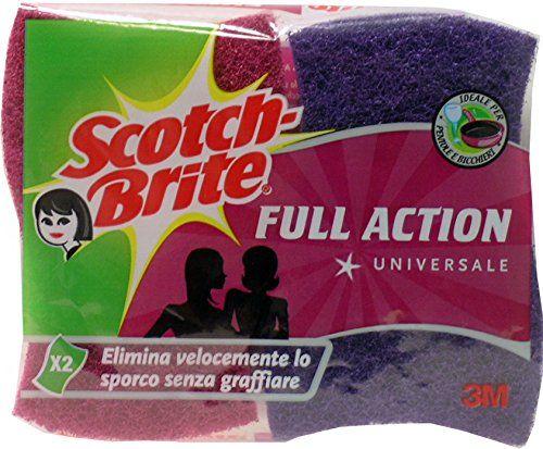 SCOTCH BRITE Eponge Action Full Universel 2 Pièces