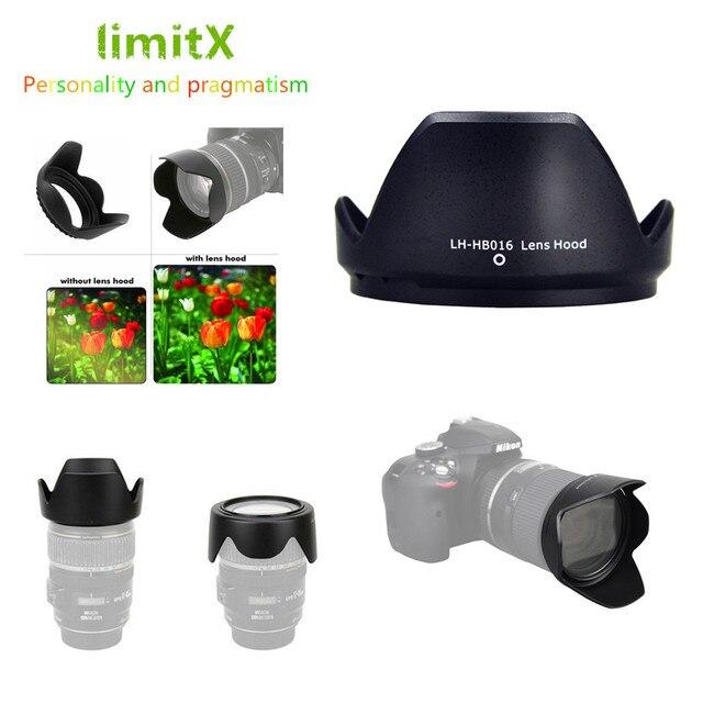 Pare soleil réversible pour caméra à fleurs pour Tamron 16 300mm f/3.5 6.3 Di II VC PZD objectif MACRO remplace Tamron HB016