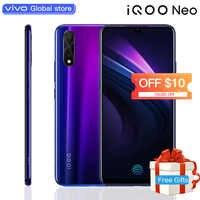 """Smartphone d'origine vivo IQOO Neo 6GB 128GB Android 9 Snapdragon 845 4500mAH 3 caméras Super Amoled 6.38 """"écran téléphone portable"""