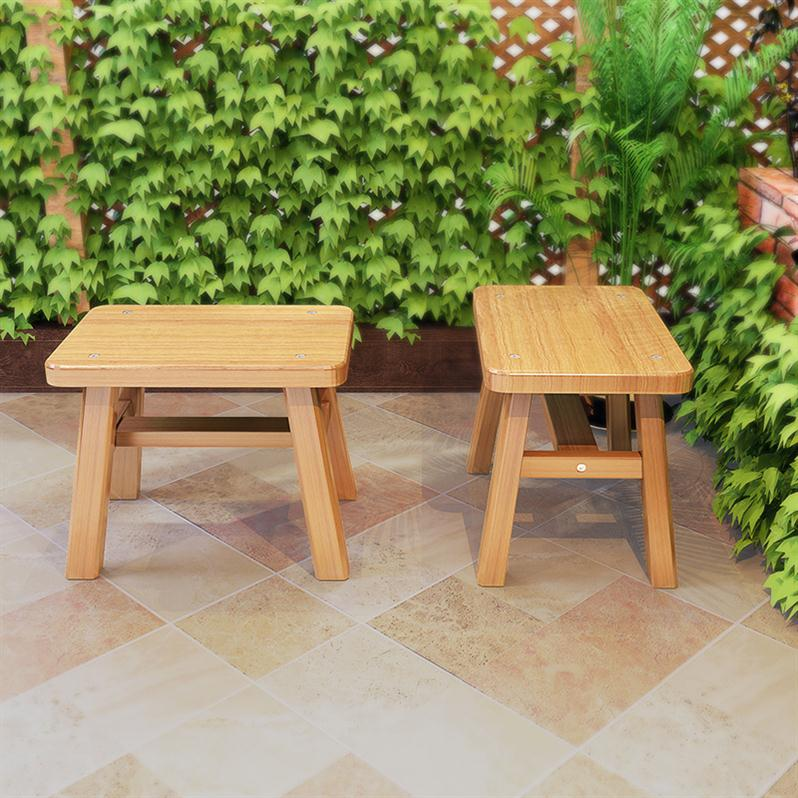 H1 Small Wooden Bench, Bench, Bamboo Bench, Low Shoes, Bench, Adult Salon, Solid Wood Children, Cool Summer Kids Furniture