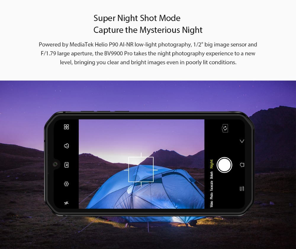 Blackview BV9900 Pro Thermal Camera Mobile Phone 8GB+128GB Helio P90 Octa Core Smartphone 48MP Quad Camera IP68 Rugged phone