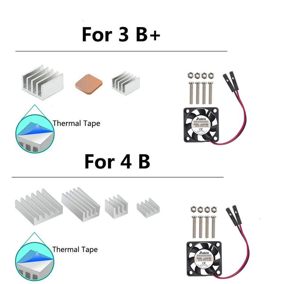 Raspberry Pi Fan, Raspberry Pi Heatsink Mini Fan Cooling Kit For Pi 4 Model B/Pi 4B /Pi 3B+ / Pi 3B