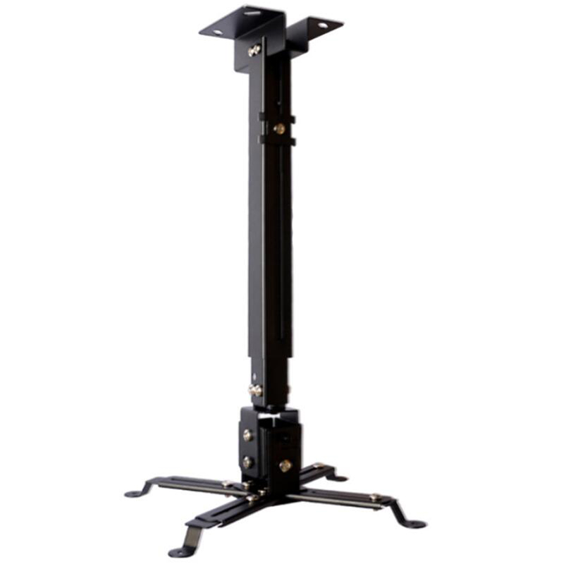 AAAE Top-Black Universal Projector Stand Telescopic Adjustable Ceiling Ceiling Wall Mount