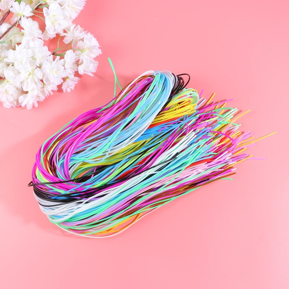 200 шт. красочная плетеная веревка ПВХ плетеный провод Пластик DIY плетеная веревка DIY плетеный провод шнура