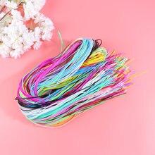 200 pçs colorido trançado corda pvc trançado fio plástico diy trançado corda diy trançado corda