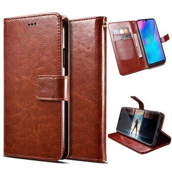 Перейти на Алиэкспресс и купить Роскошный кожаный флип-чехол на магните для Philips Xenium W8500, чехол-кошелек с отделениями для карт, дизайнерский бизнес винтажный Чехол-книжка s