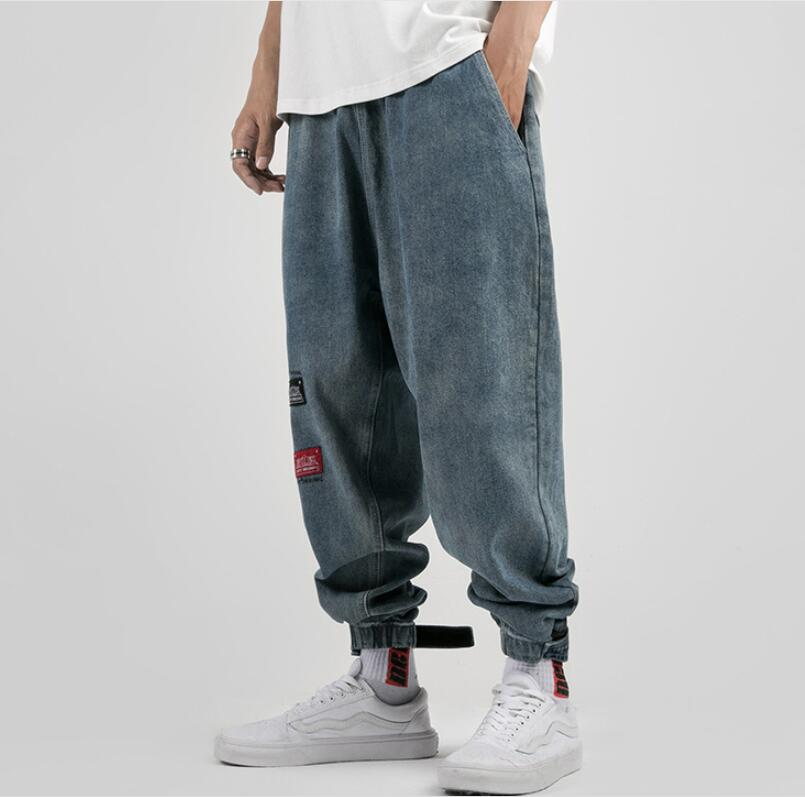 2019 baggy jeans hip hop harem pants mens pantalon homme jean herren harajuku denim men blue modis clothes streetwear pantaloni