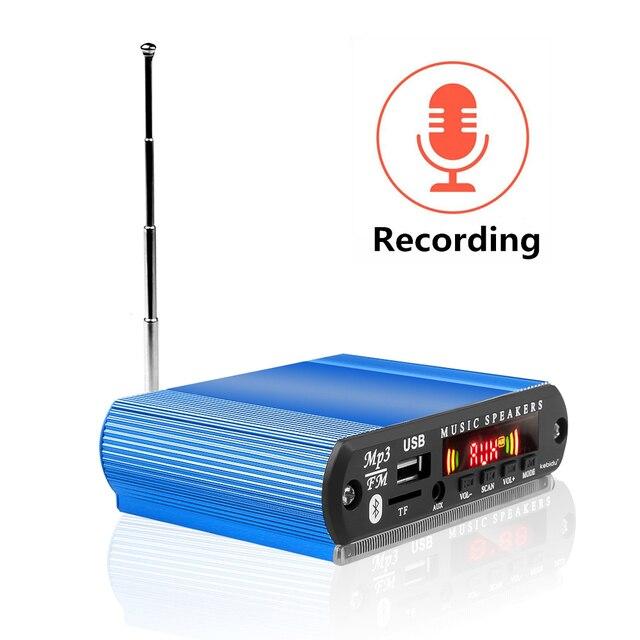 KEBIDU 5V 12V moduł Bluetooth płyta dekodera MP3 USB TF FM moduł radiowy bezprzewodowy odtwarzacz MP3 z funkcja nagrywania zestaw samochodowy DIY