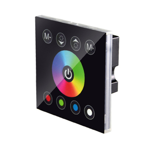 Image 4 - DC12V 4A*4CH Black Tempered Glass Panel Digital Touch Screen Dimmer Home Wall Light Switch For RGBW LED Strip Tape 4 Channel