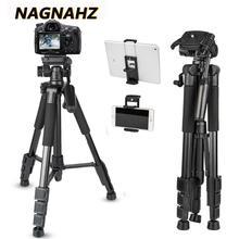 67 אינץ מקצועי חצובה וידאו מצלמה נייד סטנד אלומיניום נסיעות Tripode עבור Canon Nikon Sony Dslrs נייד טלפון מצלמות